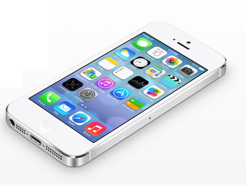 iPhone 5S with iOS7